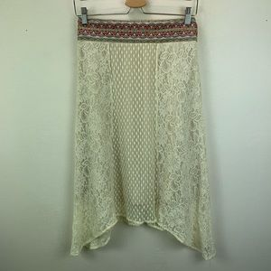 Flying Tomato Womens Lace Peasant Skirt